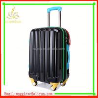 xc-3377 laptop metal abs suitcase/ aluminum promotion wheel trolley bag/ modern black printed suitcase