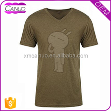 V-Neck Fitted Tshirt For Men With Good Quality Shirts