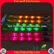 Hot New Products For 2014 Polyester Led Flashing Lanyard promotional trend christmas gift 2014