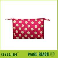 Dot latest simple girls design travel organizer bag cosmetic case
