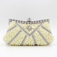 Wholesale beaded cosmetic clutch bag made of beads in stock Item: 80298-7