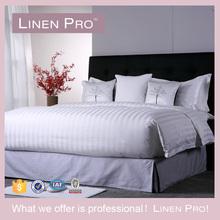 100% Cotton Jacquard/Satin Strip Fabric White Bed Sheet 3 cm Satin Stripe Hotel Bedding Set Fitted Sheet Pillowcase