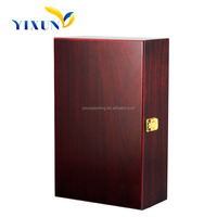 2015 Factory price high end fanny pu leather wine carrier box for 2 bottles