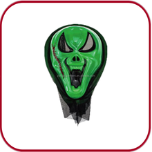 green devil face mask rubber mask party mask PGAC-0890