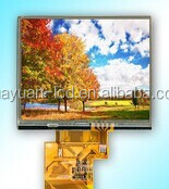 High resolution 5 inch TFT LCD module with touch panel optional, 800 x 480 pixels