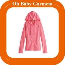 Unisex thin zip up hoodies plain colored hoodie
