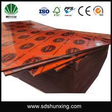 Hongyu Concrete Formwork Ply Poplar Core black Film faced plywood