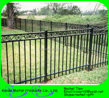 Farm wrought iron fence parts design