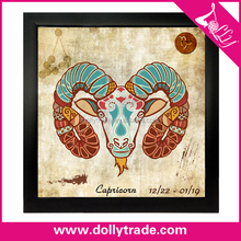 modern abstract zodiac art painting on canvas