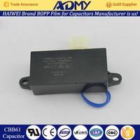 ADMY top quality low price mps plastic film cbb61 capacitor cbb61 3uf factory wholesale