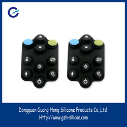 Manufacturer customize silicone rubber vulcanized push buttons