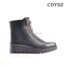CDYDZ M1319-F7886 Women wedge Boots with side zipper decoration 2015 women flatt shoes for dress fashion sexy