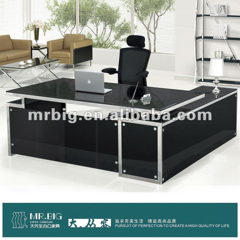 Db031 cristal moderno mobiliario de oficina escritorio for Oficina western union sevilla