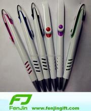 ball pen with red blue green orange purple black white element