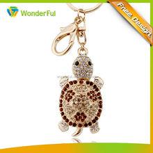 2014Promotional Fashion Jewelry Gifts Custom Tortoise Metal Key Chain