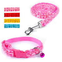 Yiwu Unique Style Ribbon Handmade Nylon Puppy Dog Collars And Leashes