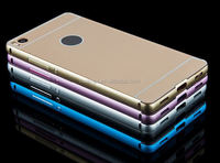 2015 New design Aluminum Metal Bumper+PC Hard Case bumper and cover case for huawei p8 lite wholesale