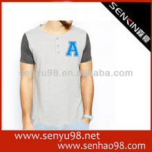 Short t shirt for men with alphabet