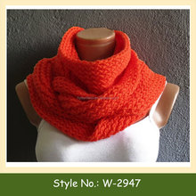W-2947 machine knit scarf pattern women knit circle scarves loop scarf knitting pattern
