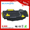 USB gaming keyboard gamer keyboard with 5 programmable Macro keys