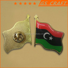 factory supply country flags lapel pins/metal badge with epoxy