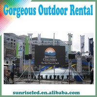 hot sale high quality outdoor led video display board Sunrise commercial use led video player, auto loop play electronic board