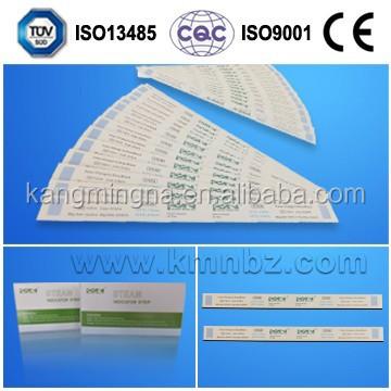 Dry heat sterilization indicator strips