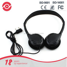 Stereo Lightweight Folding Portable disposable Headphone for arilines or travel bus