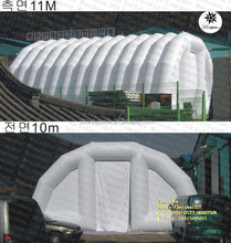 Hot selling custom White inflatable tunnels with door and blowers