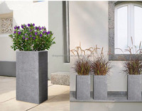 Modern house decoration tall square concret flower pots