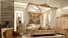 2015 new bed design furniture Love Collection European style bedroom sets luxury king size bed room furniture with foshan