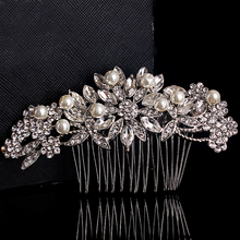 Europe and the United States Bride Handmade Crystal Wedding Hair Combs