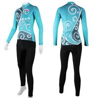 wholesale women Long Sleeve cycling jerseys+pants Autumn/winter Fleece fabric Optional ILPaladino #CT-319