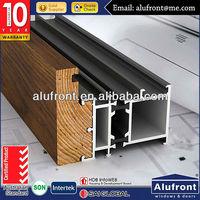 aluminium wood clad profile for sunroom