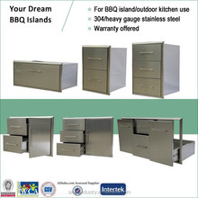 High End Stainless Outdoor BBQ Island Drawers