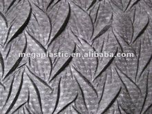 Crinkle foil suede leather for lady's fashion shoes
