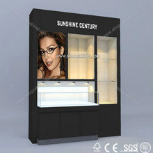 Modern style eyeglass display shelving/cabinet with good quality wooden customized design