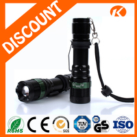 Dimmable Equipment Aluminum Zoomable Flashlight Ultra Bright Light Torch Rechargeable