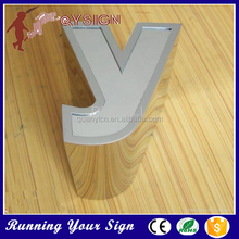 low power small stainless steel letters for acrylic logo