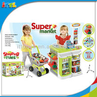 A543297 Kids Supermarket Shopping Cart And Cashier Desk Shopping Cart Toy