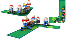 bright color Garden maze style fun kids outdoor play structures