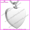 shiny finish Funeral urn ashes jewelry engravable stainless steel heart pendant