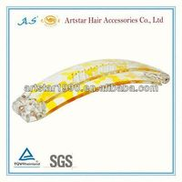 100mm clear snap clips for hair