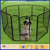 Black vinly metal portable temporary dog fence