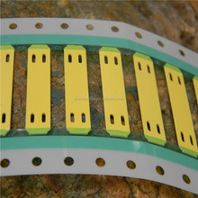 Yellow Cable Marker Tags with cable tie slots