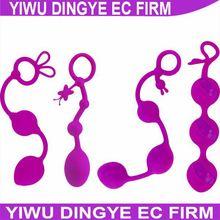 Tone Triple Tightening 3 Purple Silicone Vaginal Tightening Ben Wa Balls Kegel Exercise Beads