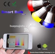 2014 New product WIFI hue bulb smart zigbee led light bulb 8w 500ml 90ml/w AC85-265v