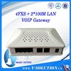 Rj45 to rj11 4 FXS port sip voip ata gateway with 2 ethernet ports