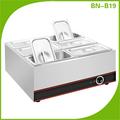Mesa de acero inoxidable parte superior baño maría eléctrico calentador de alimentos bn-b19