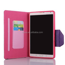 "TPU + PU Hybrid Stand Case Color Matching Cover for Samsung Galaxy Tab S 8.4"" T700 Cover with Credit Card Pockets Slots"